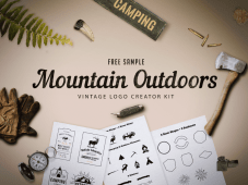 Free Sample Mountain Outdoor Vintage Logo Kit