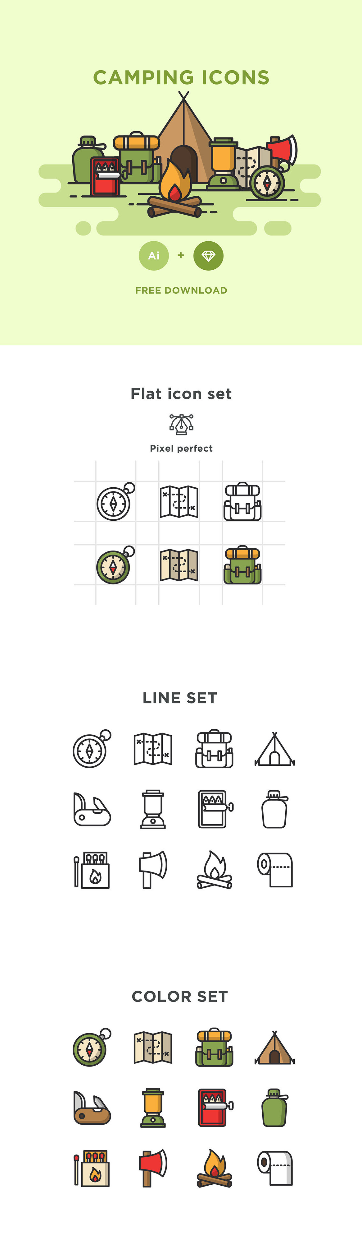 Free 12 Camping Icons