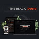 The Black Done – Free One Page Portfolio