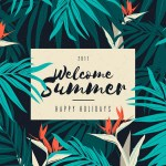 Set of Free Vintage Summer Vectors and Patterns