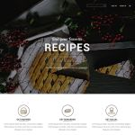 Free Restaurant Food Landing Page PSD Template