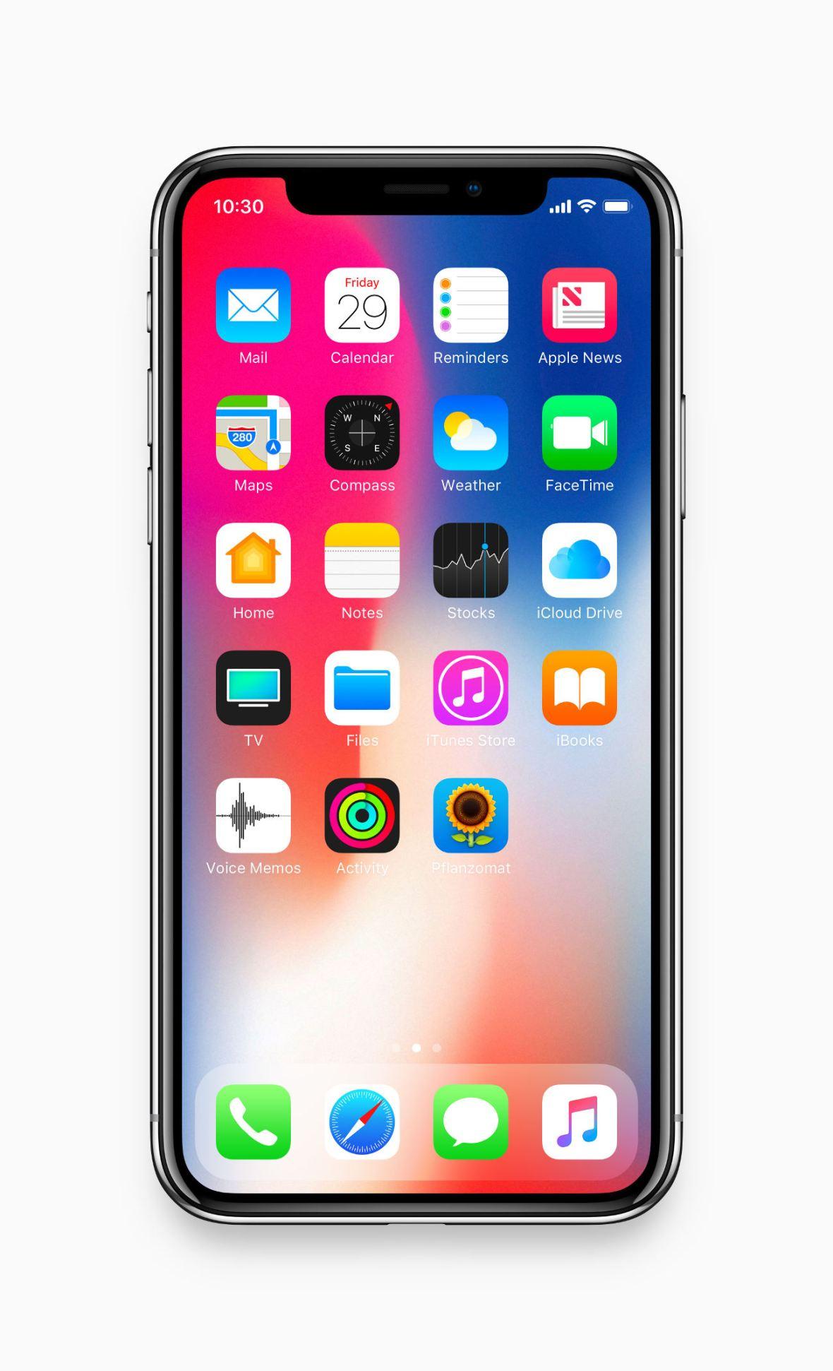 iPhone X Mockup (fit 2436 x 1125 pixel resolution)
