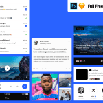 Vera Block: A Huge Set of Free Mobile UI Kit (Sketch, PSD)