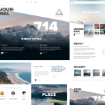 Wild Website Template for Sketch