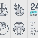 Star Wars Icon Set (24 Icons, SVG, AI, PSD, Sketch and PNG)