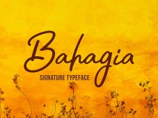 Bahagia Typeface Free Download