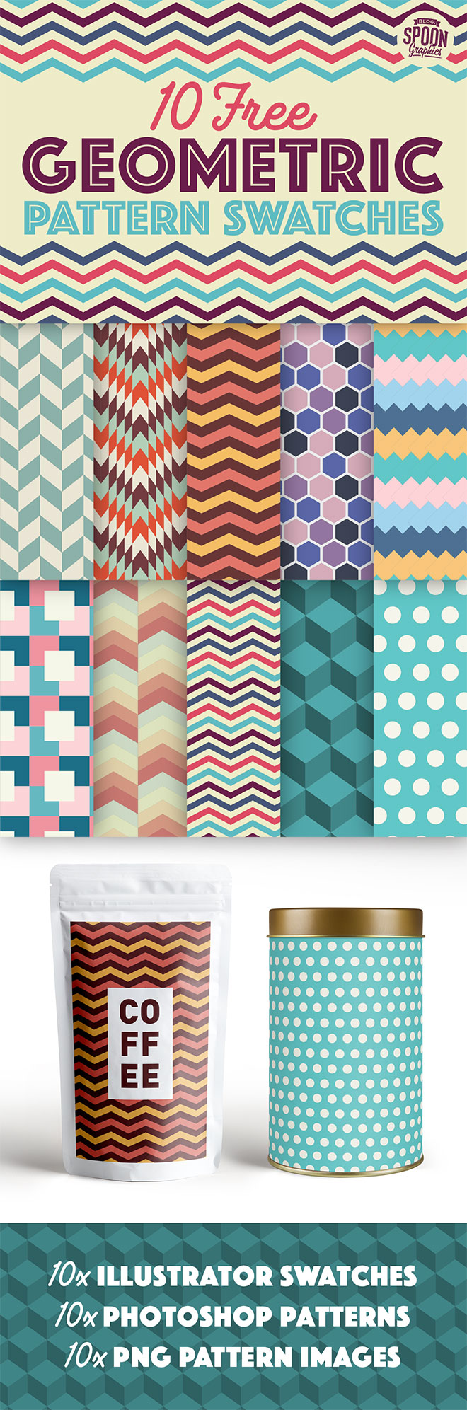 10 Free Geometric Patterns