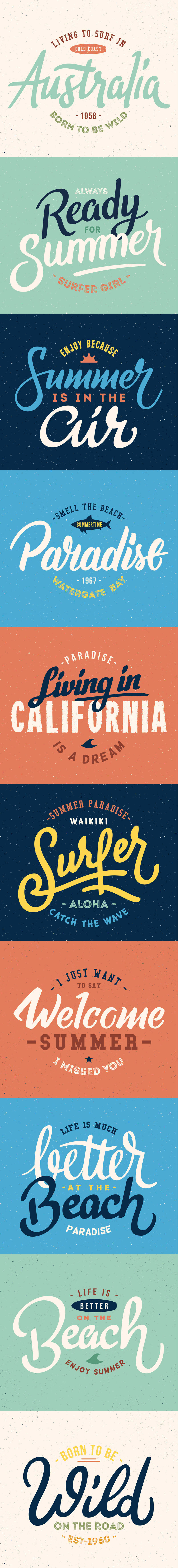 Free Summer Letterings