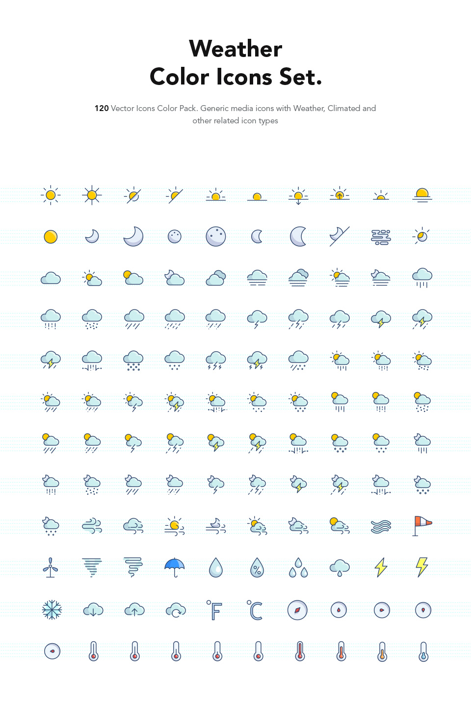 Free Weather Color Icons