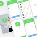 Finder Teacher App – Free PSD