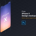 Free iPhone X Mockup PSD (with Notch Vector Shape)