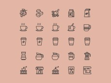 Free 25 Coffee Theme Icons