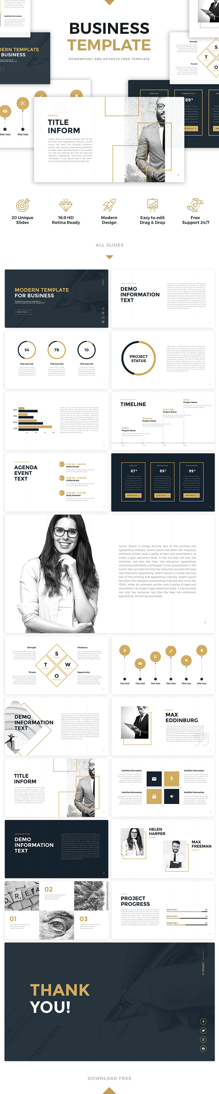 Free PowerPoint and Keynote - Business Template