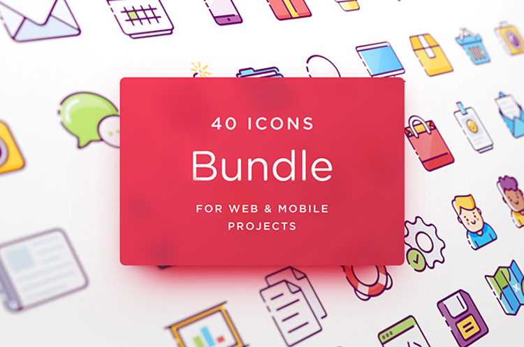 Web and Mobile Icons Bundle