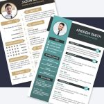 10 Resume/CV Templates (AI, EPS)