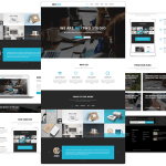 Free Nextwo Business Website Template (Sketch)