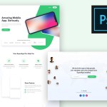 Free SuperApp Landing Page PSD