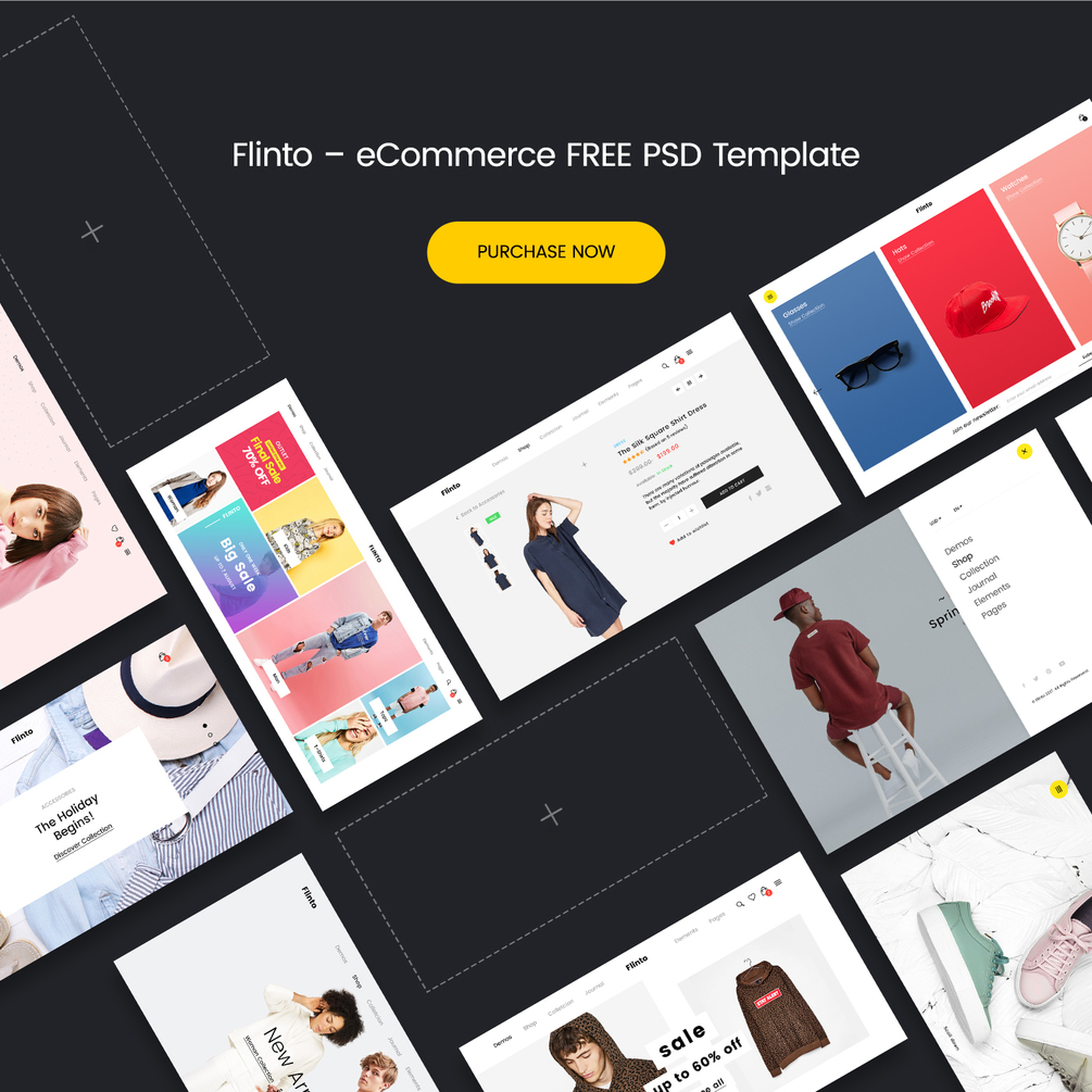 FLINTO eCommerce PSD Template - Free Version