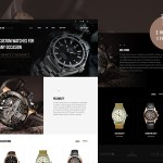 Free .PSD Watch Store Website Template