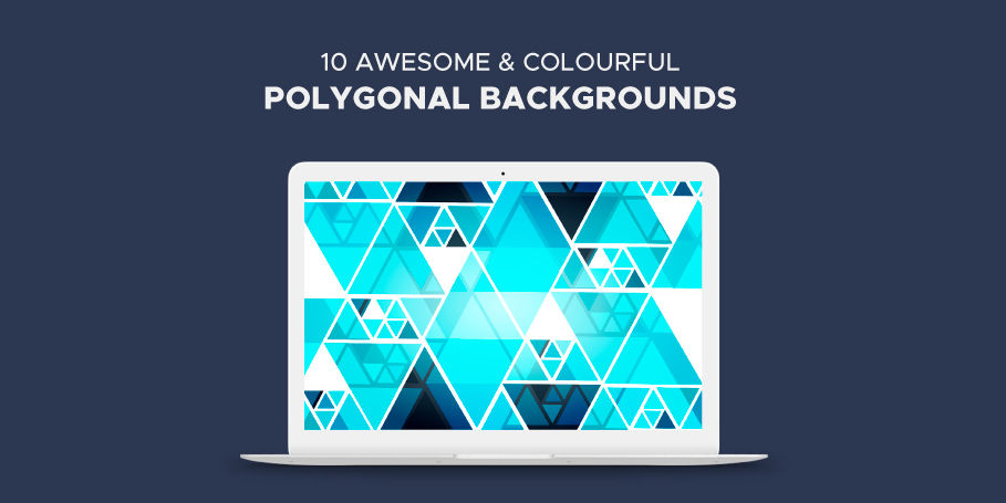 Free 10 Awesome and Colorful Polygonal Backgrounds