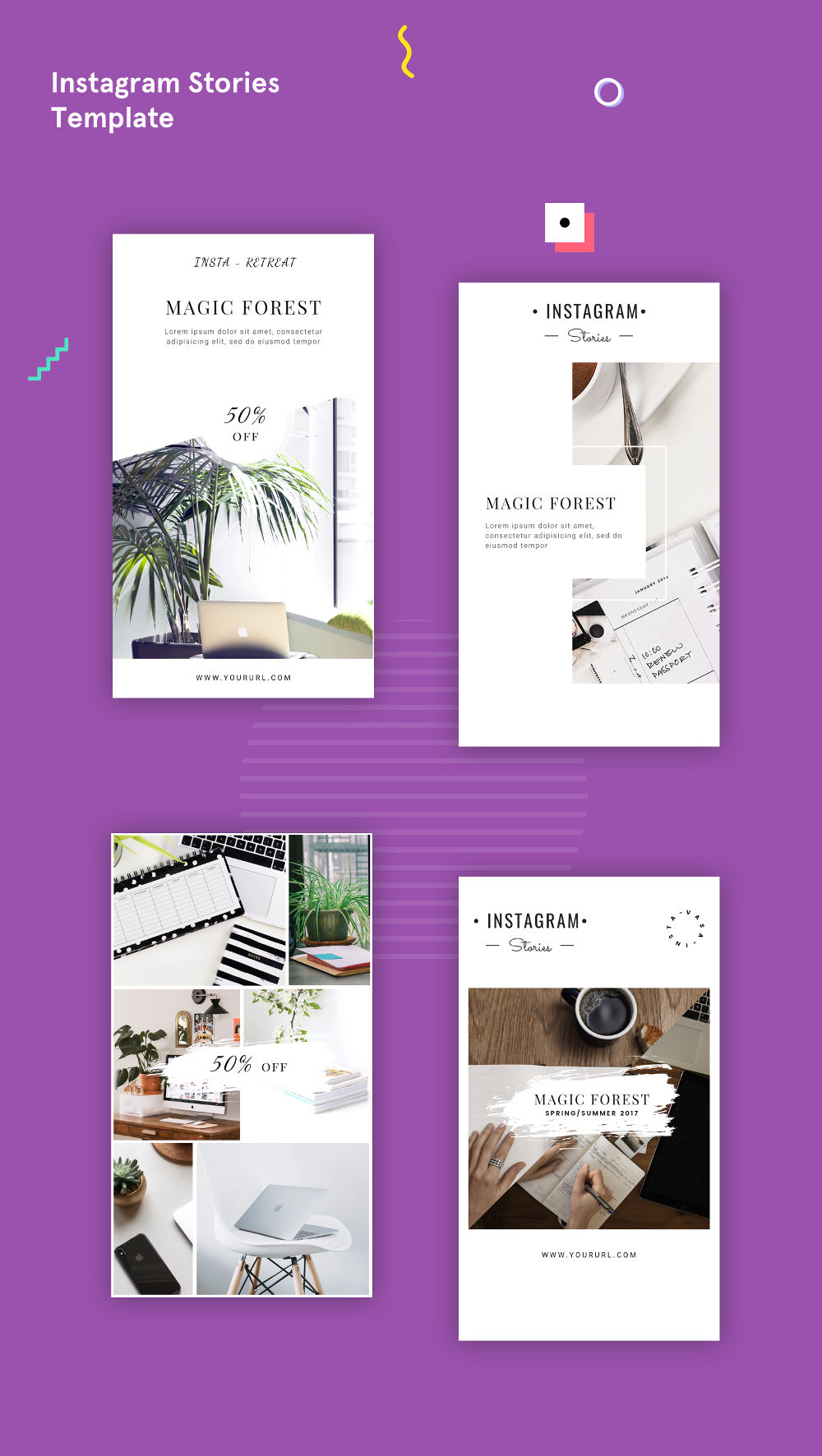 Free Instagram Stories PSD Template
