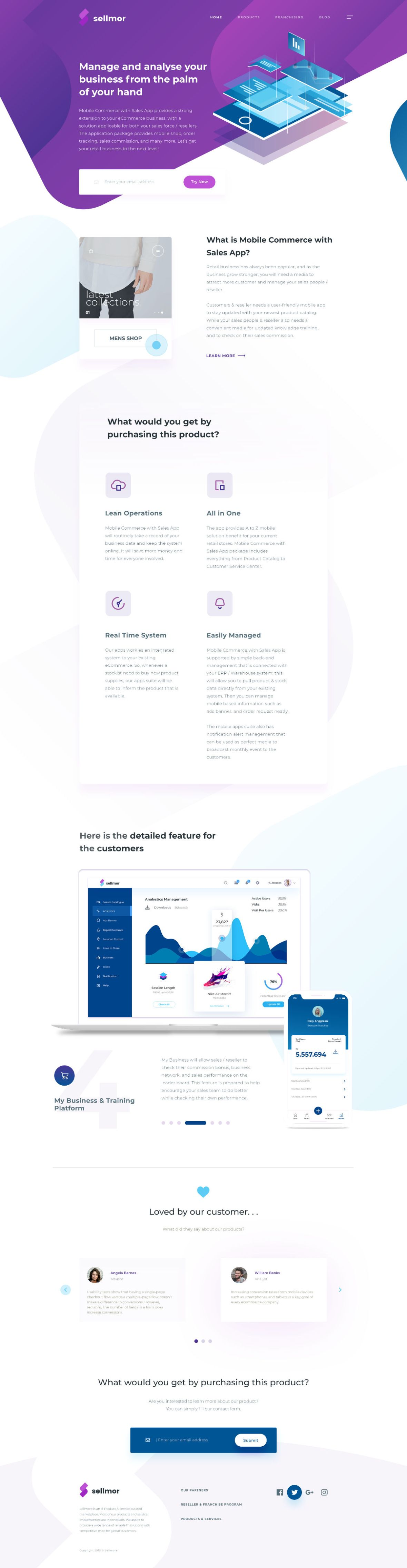 Free Sellmor Landing Page PSD by Aryo PamungkasFree Sellmor Landing Page PSD