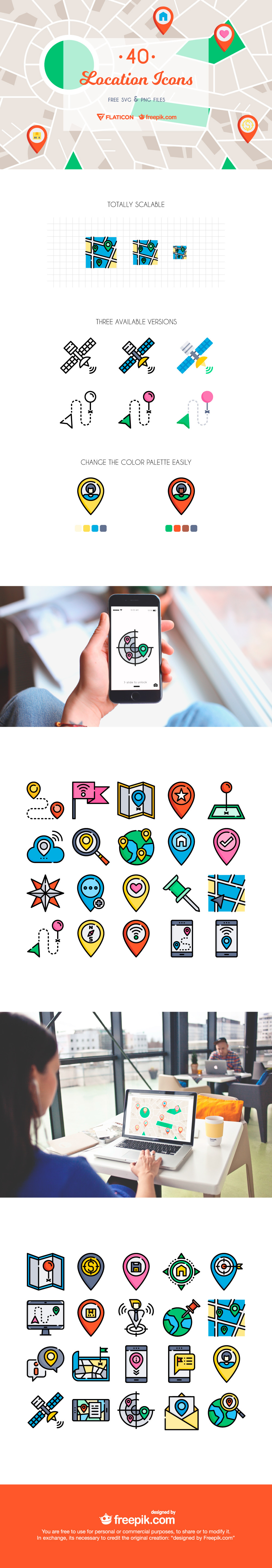 The Free Location Icon Set by Freepik