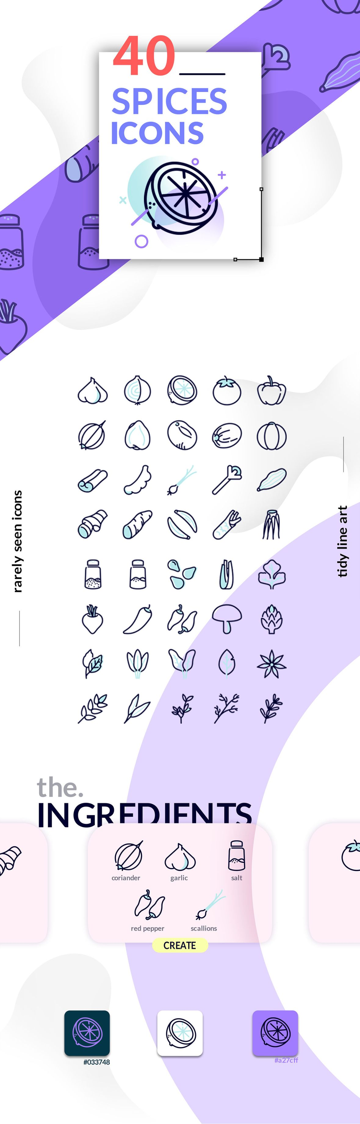 Free 40 Spices Icons