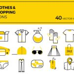 Free 40 Cloths and Shopping Vector Icons