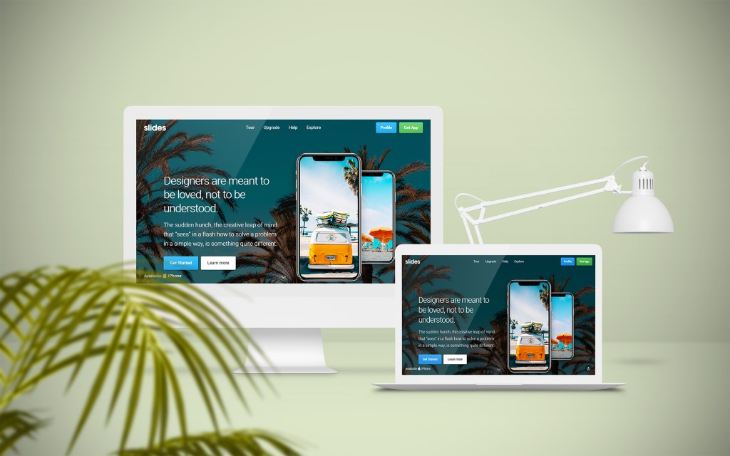 Free Horizontal Scroll One-Page Website Template