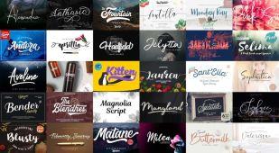 Free Download 30 Script Fonts