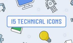 15 Free Animated Technical Icons for After Effects