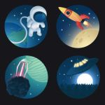 Cosmos Icon Set 1 & 2 (PSD)