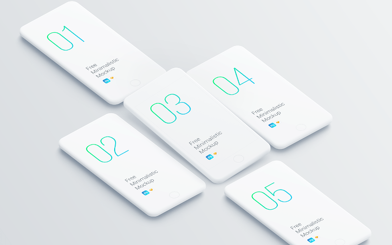 Free Minimalistic Phone Mockups for Presentation