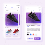 Shoes Store Concept App – Adobe XD