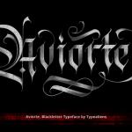 Aviorte Blackletter Font (OTF, TTF, AI, EPS)