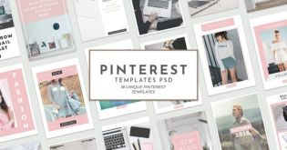 18 Free Unique Pinterest Pin Templates for Bloggers (PSD)