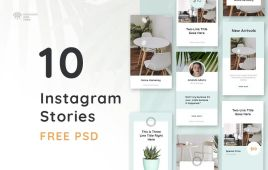 Free 10 Insta Stories PSD Template