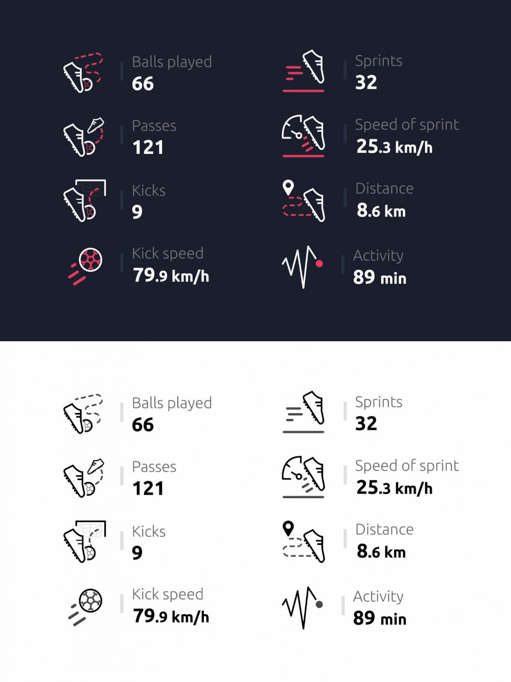Free Soccer Statistics Icons Preview