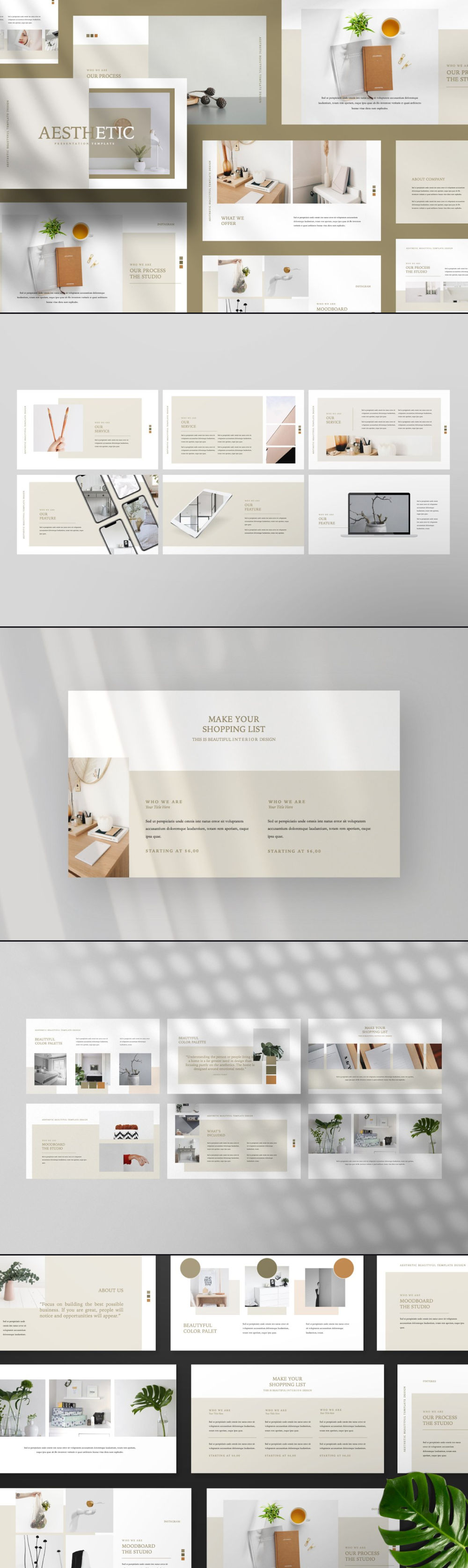 Free Aesthetic PowerPoint Template Preview
