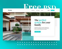 Free Houzy Website PSD Template
