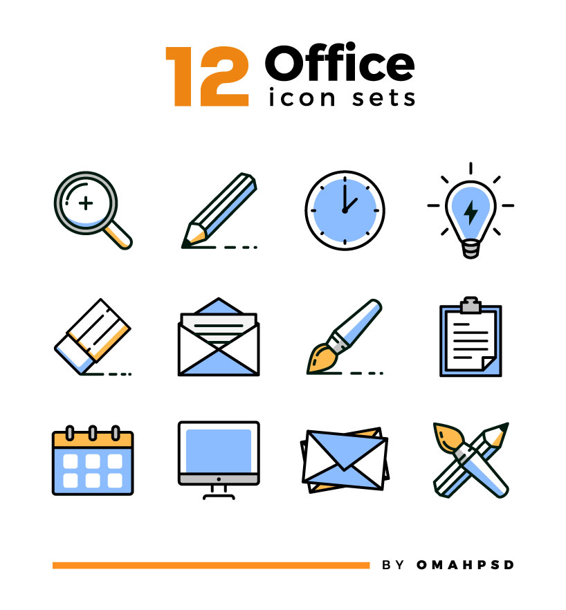 Free Office Icons Full Preview