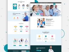 Free MEDCare - Medical Health Landing Page PSD Template