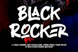 Black Rocker Font - Free Version