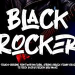 Black Rocker Font – Free Version