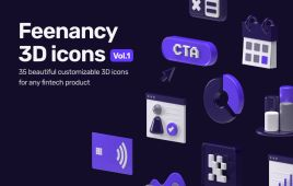 Feenancy 3D Icons Free Demo