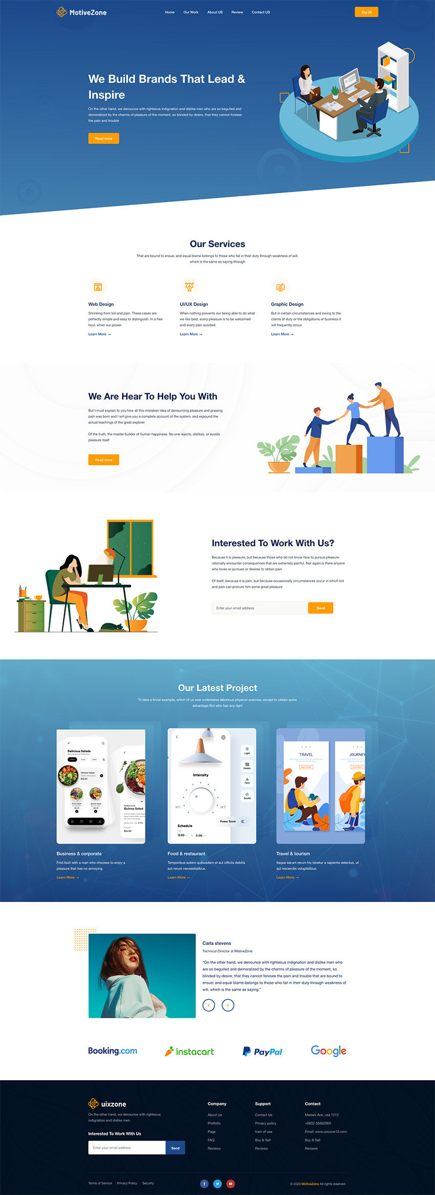 AgencyZone - Free Landing Page Design (Adobe XD) Preview