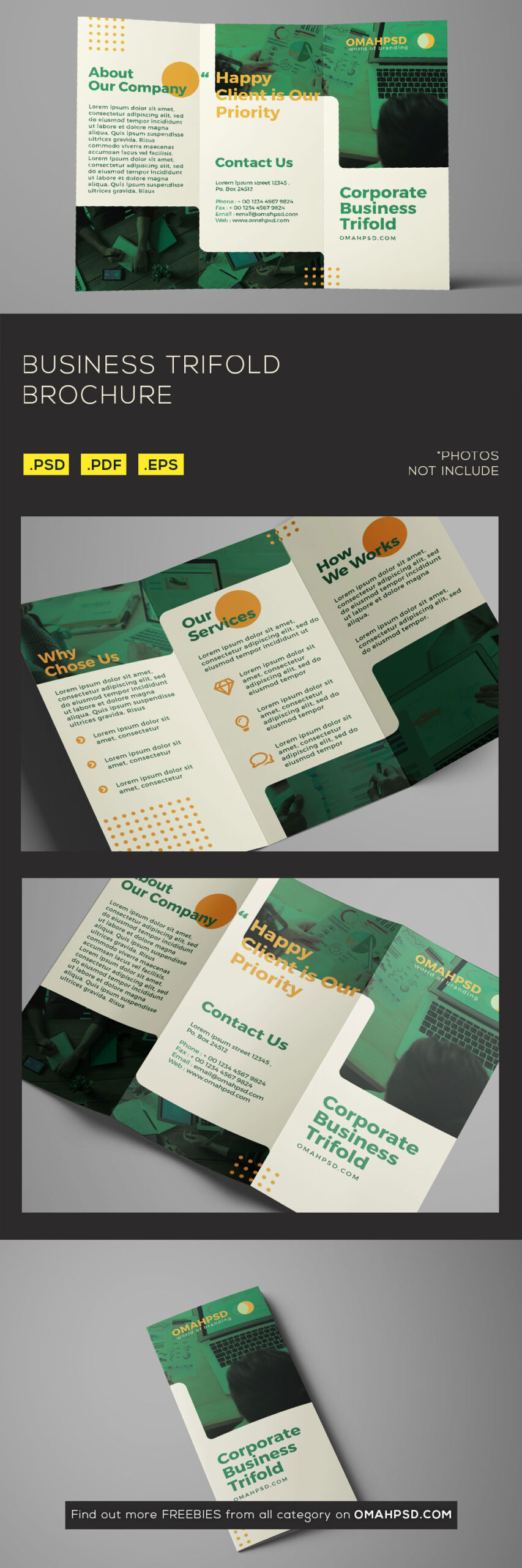 Free Business Trifold Brochure Template Preview