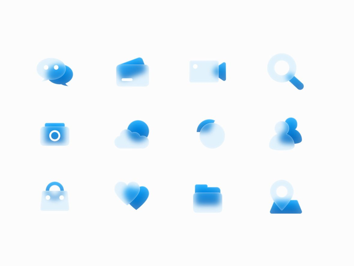 Free Glass Icons Preview