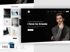 Free Portfolio Landing Page Design (PSD)